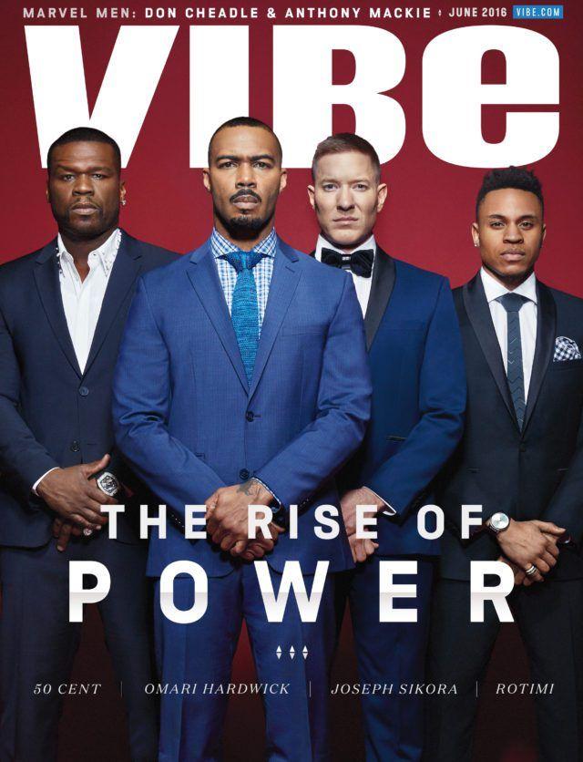 POWER- 50 Cent, Omari Hardwick, Joseph Sikora, & Rotimi Cover VIBE Magazine