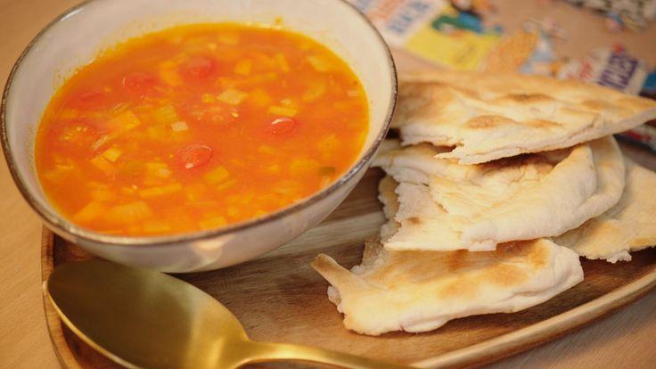 Wortel/kerstomatensoep met rode curry | Dagelijkse kost