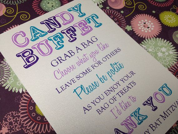 Candy Buffet Sign Candy Bar Sign Love is Sweet by pishposhparty, $10.00