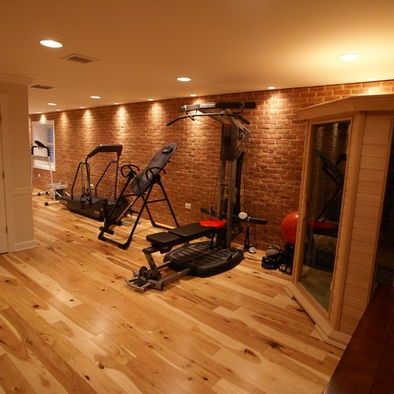 17 best images about home gym on pinterest boxing for Basement home gym design ideas
