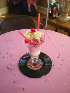 fifties records party decoration - Google Search