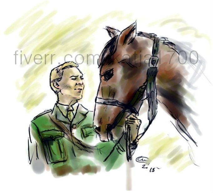Digital art sketch portraits.. .War  Horse, Tom Hiddleston...