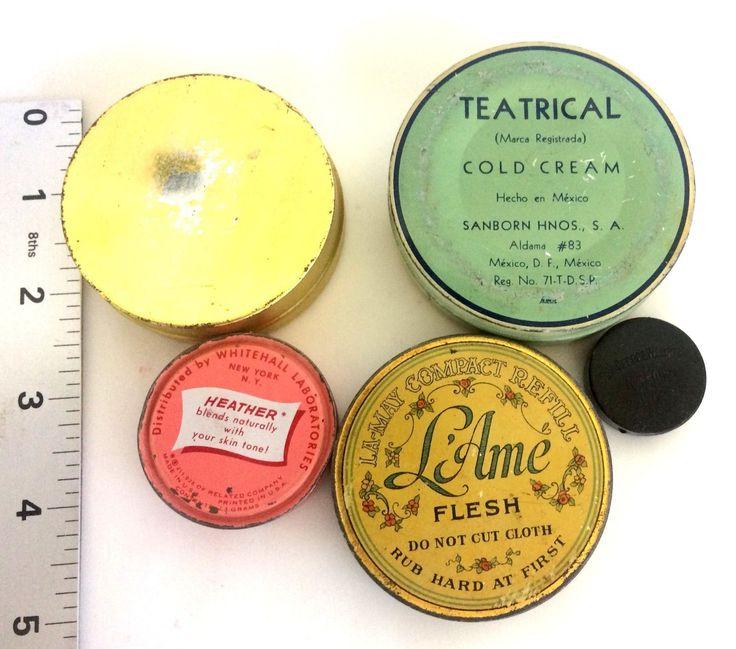 Five Antique Theatrical Makeup Tins -- Theatre makeup | eBay