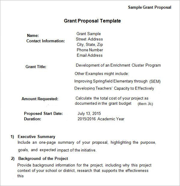 Grant Proposal Template Grant Proposal Grant Proposal Writing Proposal Letter