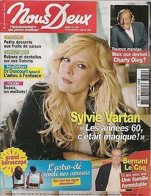 NOUS DEUX N° 3130--SYLVIE VARTAN LES ANNEES 60/CHARLY OLEG/BERNARD LE COQ
