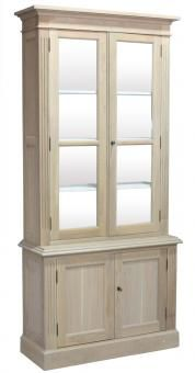 ECS Single Library Bookcase Doors Solid Oak. A Block and Chisel Product.