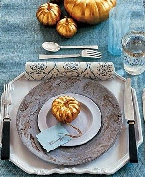 Decorating with Mini Pumpkins - gilded pumpkins  #wedding #decor #thanksgiving #fall #pumpkin