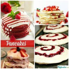 How to make pancakes from scratch is not only easy, cheap, but a crazy-fun activity to do with the kids.  These pancakes from scratch will blow your mind with amazing pancake mix recipes like whole wheat pancake stackers as well as making pancakes in yummy flavors like pumpkin, cinnamon roll, strawberry, blueberry, dutch chocolate and even red velvet pancakes!