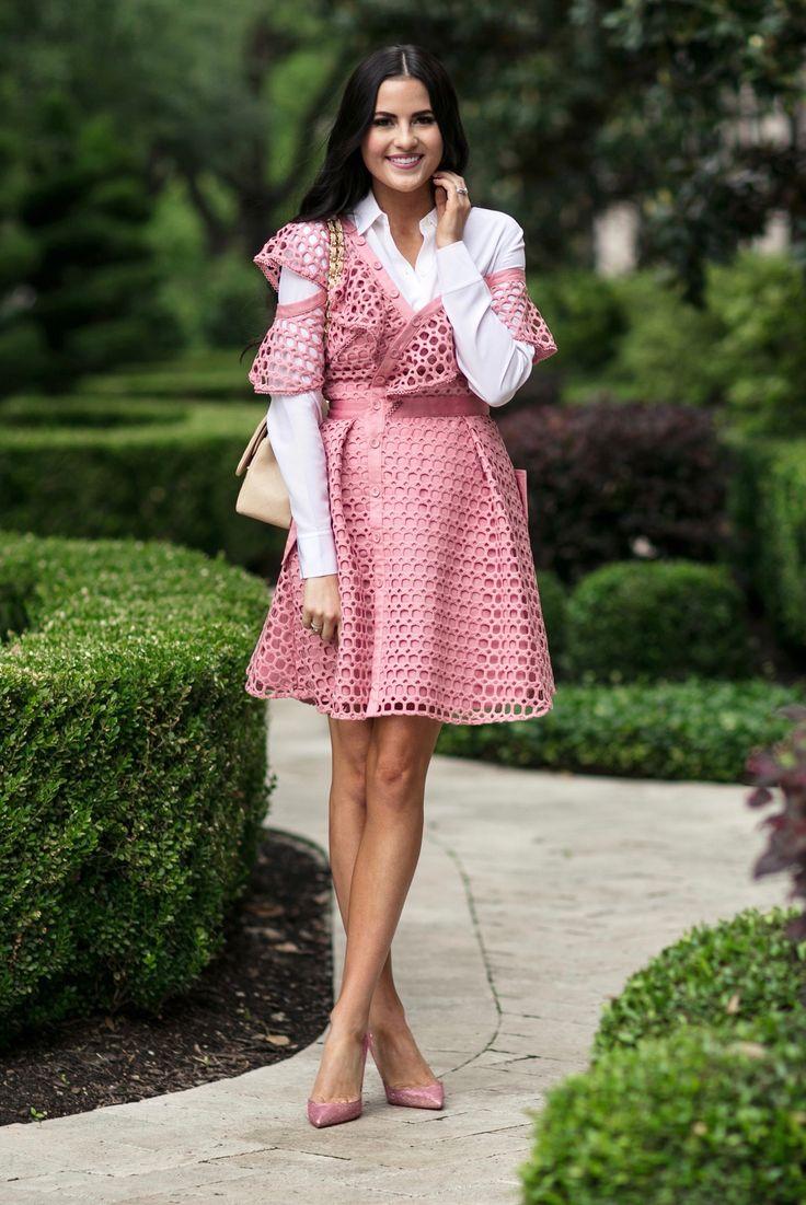 self-portrait-pink-lace-dress - 1