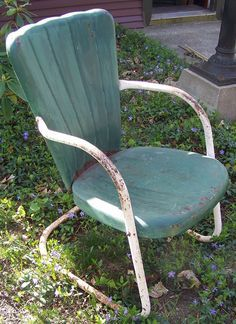 Antique Metal  Metal Chairs  Motel426 best Antique Metal Chairs I love love love  images on  . Antique Motel Chairs. Home Design Ideas