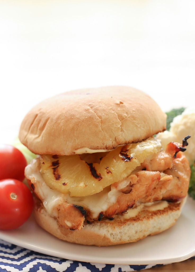 Hawaiian Grilled Chicken Sandwiches recipe by Barefeet In The Kitchen