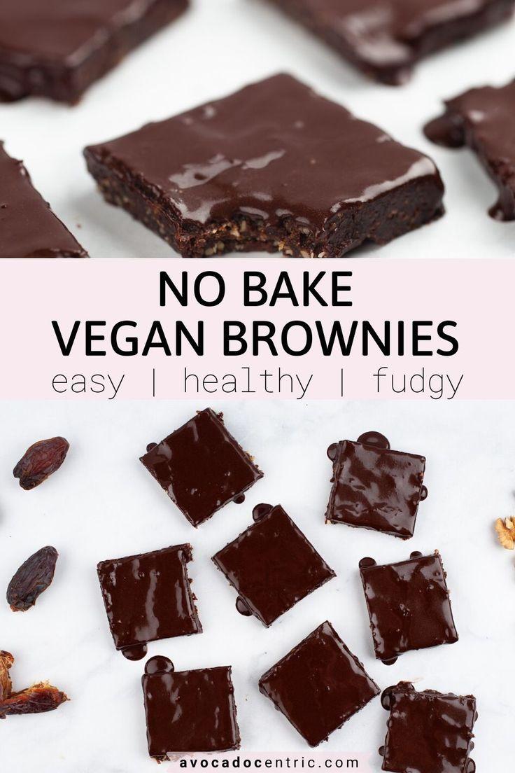 No Bake Brownies Vegan Gluten Free Avocado Centric Recipe In 2020 Vegan Brownies Easy Vegan Dessert Recipes Raw Vegan Brownies