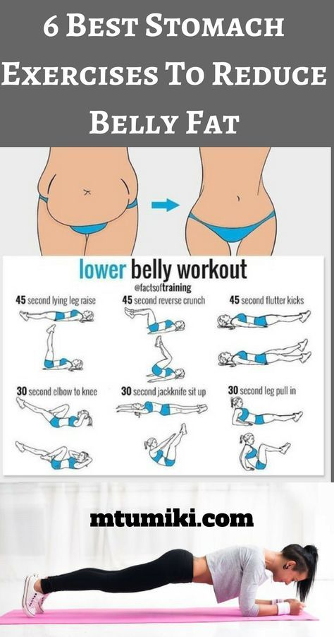 6 Best Stomach Exercises To Reduce Belly Fat and # ...