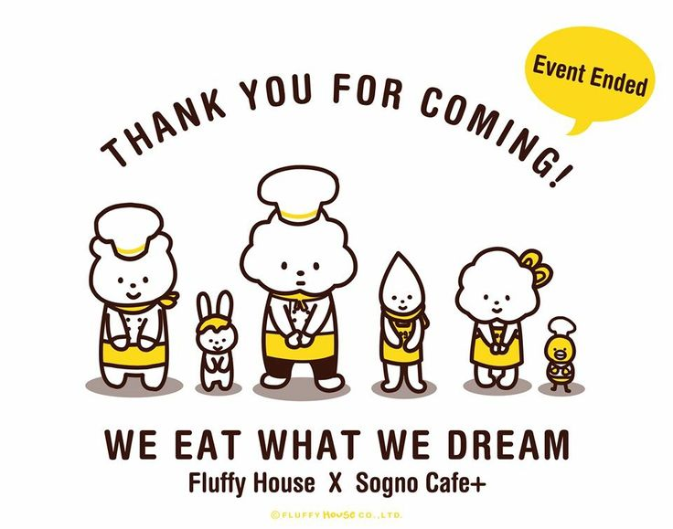 Fluffy House x Sogno Cafe+ Pop-Up Cafe Event successfully ended! Thanks you for all your heart warming support! :)