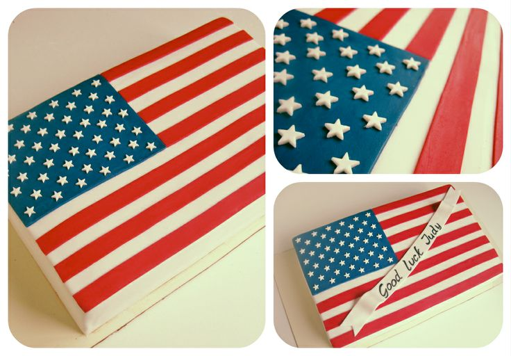 100% Accurate USA Flag Cake :), Fondant