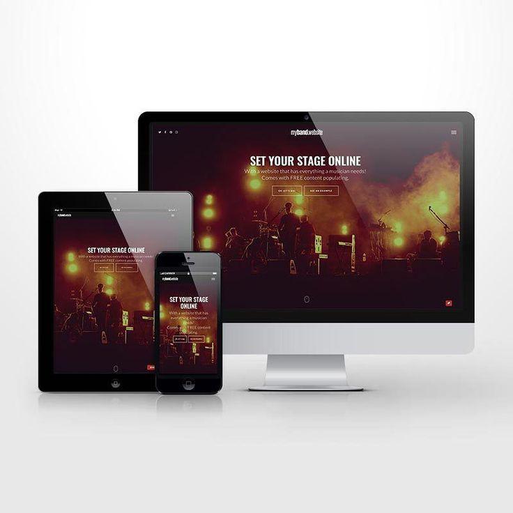 my band website responsive view... #musicians #band #website #designinspiration #music