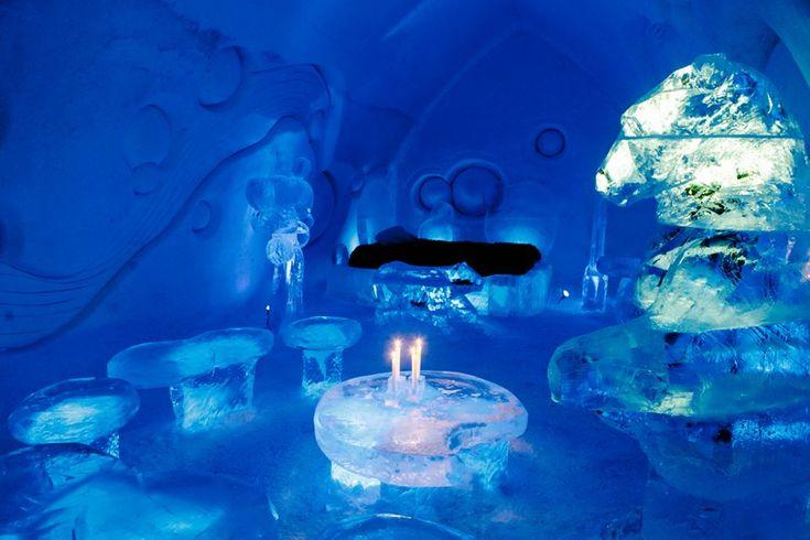 """Considerada a """"capital polar"""" doCanadá,Quebecoferece muitas atrações na neve durante a estação mais fria do Hemisfério Norte. De esportes radicais como esqui, trenós de cães e snowboard, até o maiorcarnaval de invernodo mundo. Mas nada supera em criatividade, engenharia e exotismo o Ice Hotel (hotel de gelo), situado a somente 10 min do centro da...<br /><a class=""""more-link""""…"""