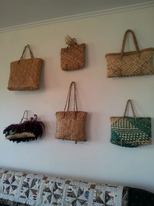 hanging Maori kits for wall art