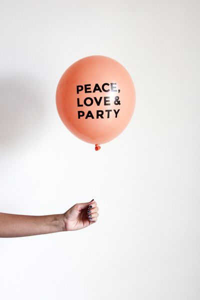 About the balloons We love balloons, but the options in most party stores are lacking and we've worked really hard to create fun and pretty printed balloons for your celebrations. These bold balloons