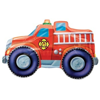 """Fire+Truck+Jumbo+Foil+Balloon+Includes+(1)+33""""+Fire+Truck+Jumbo+uninflated+Foil+Balloon.++Cost+does+not+include+inflation."""