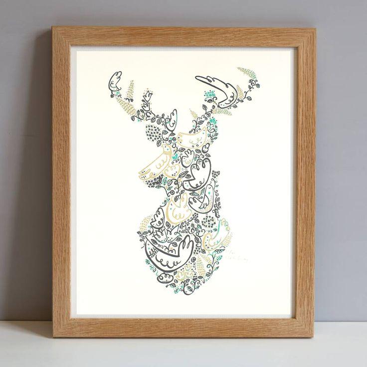 https://www.etsy.com/uk/listing/119304208/  deer-head-print-large-stags-head