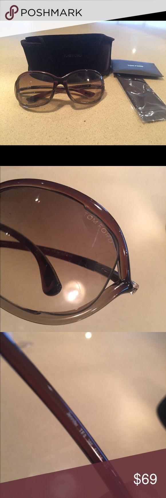 Tom Ford Jennifer brown sunglasses Great condition Tom Ford Jennifer brown sunglasses. Hairline scratch on one lens not noticeable when wearing. Comes with case, cleaning cloth. Tom Ford Accessories Sunglasses