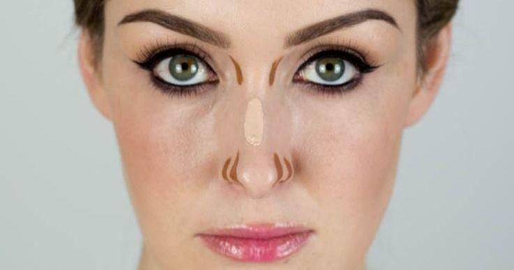 Como maquillar una nariz ancha paso a paso