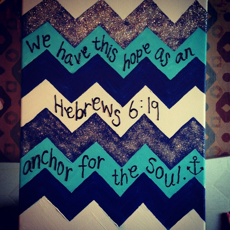 I love the chevron canvas and putting a short quote between the lines.