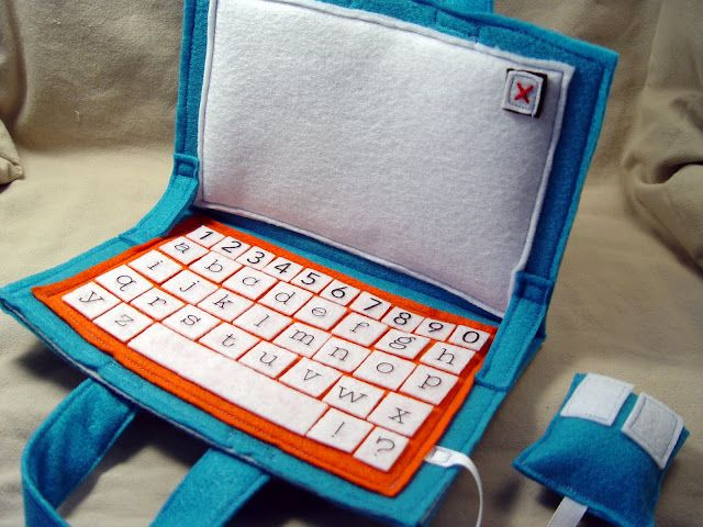 Felt computer would make an awesome busy bag or quiet book page