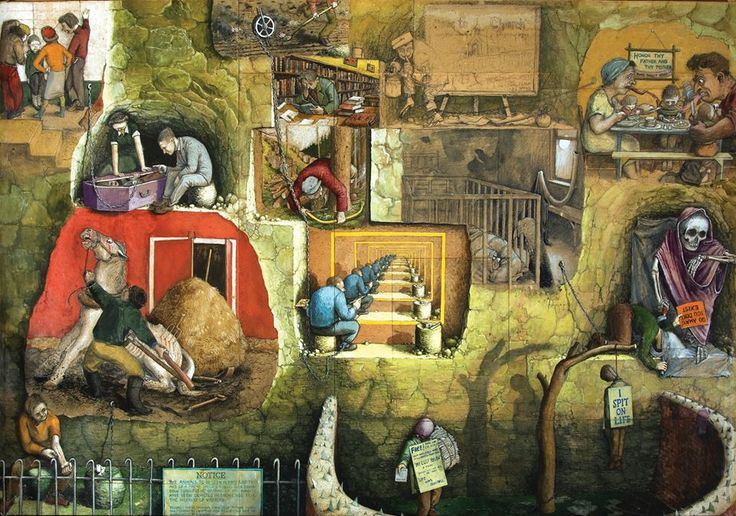 'I Spit on Life' by William Kurelek, from collection of Edward Adamson, one of the pioneers of Art Therapy in the UK, featured in RV 72. http://rawvision.com/articles/art-healing-edward-adamson