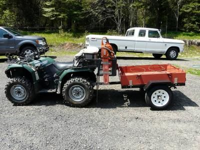 The Ironton Utility Trailer Kit is a complete road-ready kit with fenders. Includes 1 7/8in. coupler assembly with safety chains, approved lighting, wiring and connector, tail and turn signals, side running lights, two 4.80–12in. tires and slipper springs.