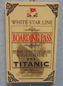 "Titanic Authentic ""Boarding Pass"" Ornament"