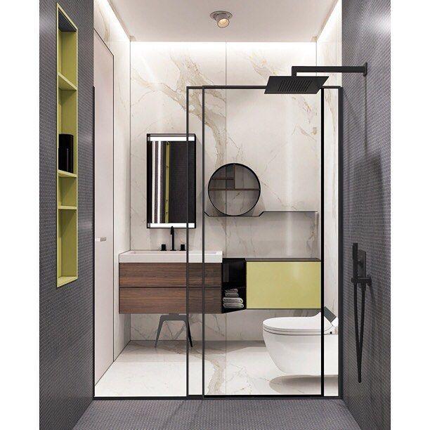 Наше любимое сочетание для ванной, душевая за стеклянной перегородкой 😊такая может появиться и у вас ^^  Подробности и заказ > info@arthunter.ru