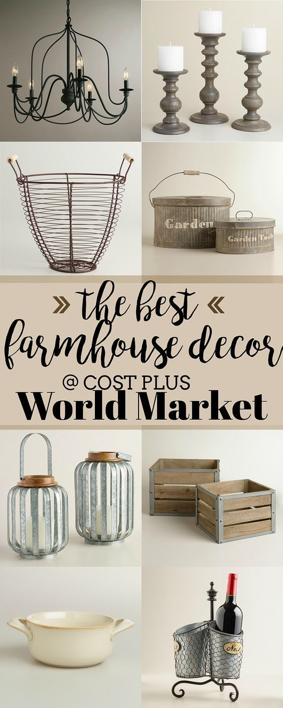 Cost Plus World Market has a huge selection of brand new gorgeous items with a modern twist! #farmhouse #farmhousestyle #farmhousedecor #rustic #homedeor #diydecor #ad #cj #worldmarket