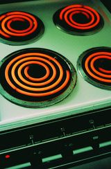 how to clean electric oven coils & eyes