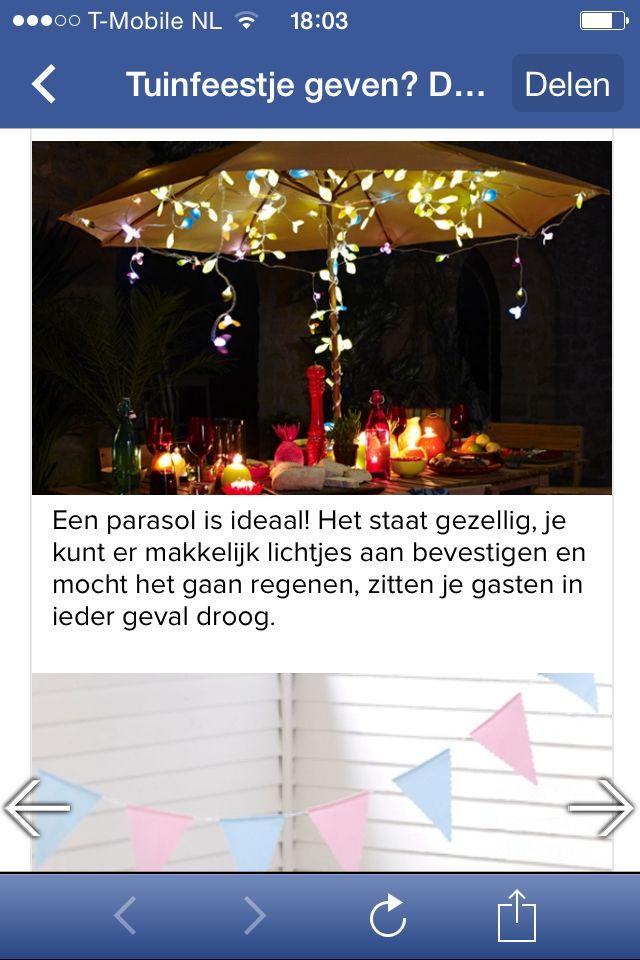 Verlichting tuinfeest