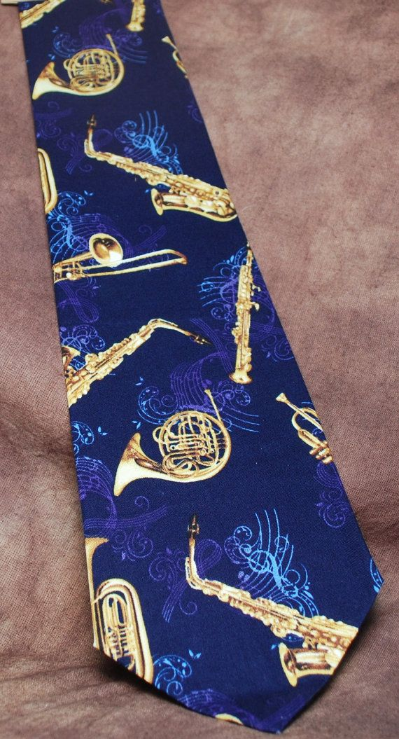 Brass Band neck tie by AbandonedWarehouse on Etsy