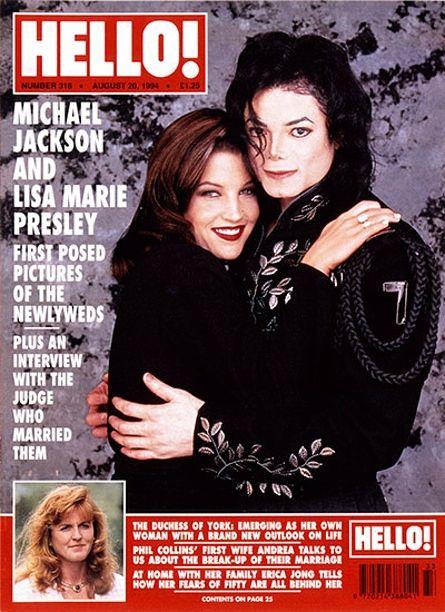 Hello!: Michael Jackson and Lisa Maria Presley Hello mag