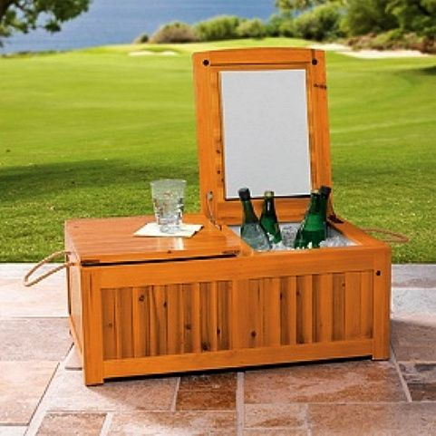 Large Wood Double Patio Cooler   $299   Sexy U0026 Practical, Sadly Out Of Stock