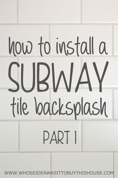 How to install a white subway tile kitchen backsplash. This is Part 1 with lots of details on selecting the tile, prep work, and setting the tile.