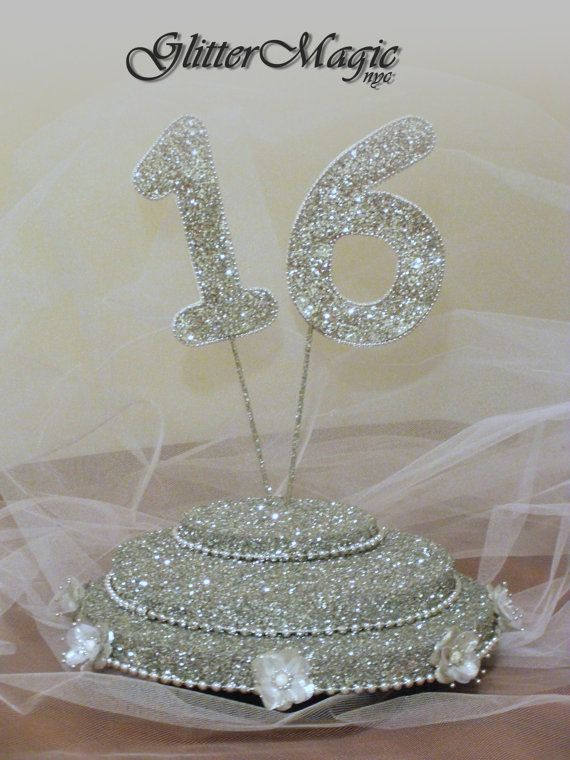 Silver Glitter Stand - Sweet 16 - Cakepop / Lollipop Stand - Centerpiece - Display Stand - Candy Buffet