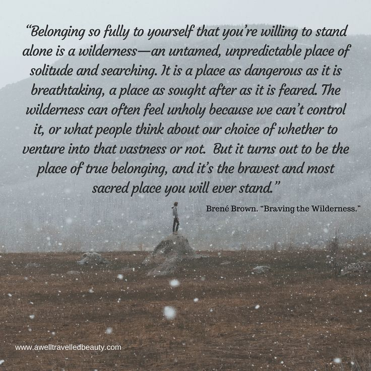 "Brene Browne Quote from ""Braving the Wilderness"" A must read for everyone!"