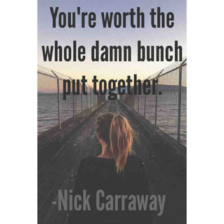 Quote From The Great Gatsby: Nick Carraway Quotes The Great Gatsby #Gatsby
