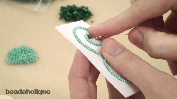 http://www.beadaholique.com/yt - In this video, learn the basic technique for a free form method of bead embroidery that can be used to fill in any number of...
