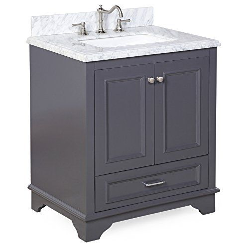 Special Offers - Nantucket 30 Bathroom Vanity (Carrara/Charcoal Gray) - In stock & Free Shipping. You can save more money! Check It (May 28 2016 at 12:00AM) >> http://bathstoreaccessories.net/nantucket-30-bathroom-vanity-carraracharcoal-gray/