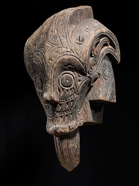 Architectural Ornament (Singa) Date: late 19th–early 20th century Geography: Indonesia, Sumatra Culture: Toba Batak people Medium: Wood, paint Dimensions: H. 29 x W. 14 x D. 15 in. (73.7 x 35.6 x 38.1 cm) Classification: Wood-Sculpture Credit Line: Gift of Fred and Rita Richman, 1988 Accession Number: 1988.143.170 On view in Gallery 355