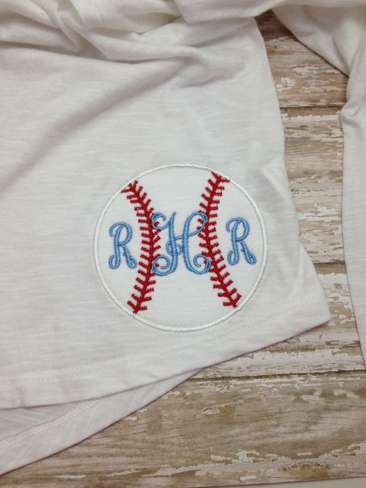 Super cute baseball monogram. Just in time for opening day! Like Red Petal Boutique on Facebook to place your order. $15 for monogram.