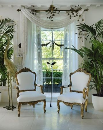 French chairs. simple white