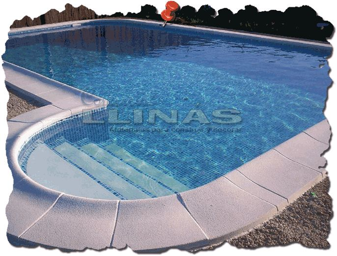 Piscinas privadas con escalera romana a un lado remates for Piscina 8x4 escalera romana