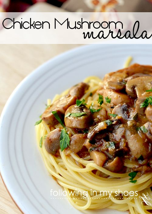 Chicken & Mushroom Marsala Pasta Recipe | @Rachel Lacy (Following In My Shoes) from Following In My Shoes